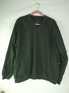 IZod XFG Mens Green Pullover Windbreaker Activewear w/ side pockets Lined size L