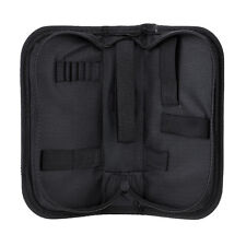 Multi-functional Canvas Watch Repair Portable Tool Bag Zipper Storage Black