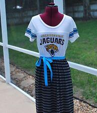 Jacksonville Jaguars Short Sleeve Maxi Dress Upcycled T-Shirts Medium