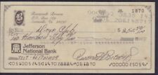 Roosevelt Brown Signed Check w/COA 122717DBT