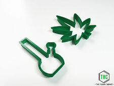 Marijuana Leaf and Bong Shaped Cookie Cutter