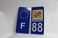 2 stickers REFLECHISSANT département 88+F