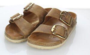 21-72 $150 Women's Sz 36 N Birkenstock Arizona Big Buckle Oiled Leather Sandal