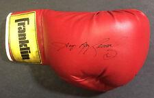 Sugar Ray Leonard Signed Franklin boxing glove vintage 1980s  autograph CBM COA