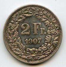 Suisse 2 Francs argent 1907 B KM 25