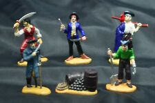 Lot of 6 Safari Pirate Figures PVC Pirates,Lady Pirate,Parrot, Cannon Balls,