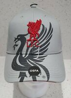 Liverpool FC Official Grey with Red Liverbird Baseball Cap - Brand 47