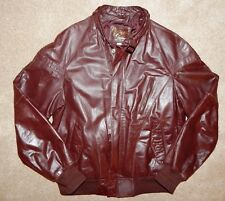 Classic REED Superior Quality Brown Bomber Cow Leather Jacket 46R