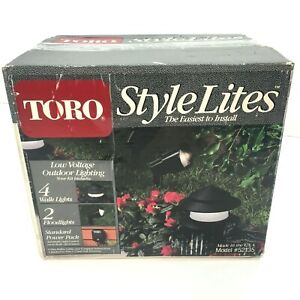 Toro Style Lites 10 Low Voltage Landscape Lights Set Power Pack Model 52135 NEW