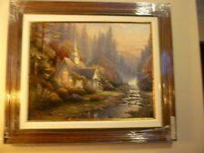 THOMAS KINKADE - FOREST CHAPEL - 24 X 30 - CHAPELS OF NATURE II S/N LE, GP