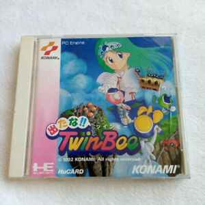 Detana!! Twinbee Nec PC Engine Hucard Japan Ver. PCE Shmup Konami 1992 Pop'n