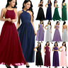 Women Backless Wedding Cocktail Formal Bridesmaid Maxi Party Ballgown Prom Dress