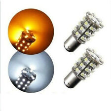 New 2 x 1157 Dual Color Switchback White Amber LED Brake Stop Tail Light Bulbs