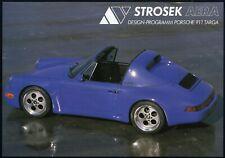 PORSCHE 911 964 TARGA STROSEK AERA Tuning Umbau Prospekt Brochure Sheet AJ