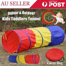 Foldable Kids Toddlers Indoor Outdoor Pop up Play Tent Tunnel Castle House Toy