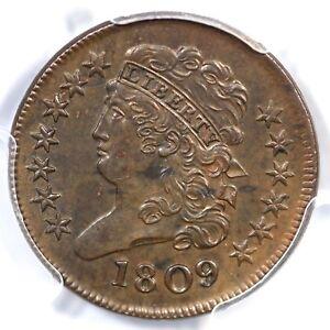 1809 C-3 PCGS AU 58 Classic Head Half Cent Coin 1/2c