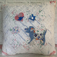 NEW Handmade Puppy Dog Pillow Vintage Quilt Old Chenille Bedspread Super Cute!!