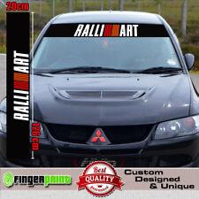 RALLIART sticker decal mitsubishi evo sunstrip  windshield spirit of competition