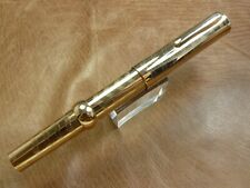 CONKLIN RIKWILL CHASED PATTERN VERMEIL STERLING SILVER CRESCENT FOUNTAIN PEN