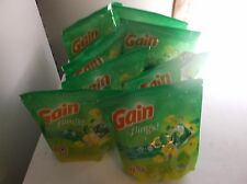 gain flings original detergent lot of 8 packs x 16 count  ship free priority
