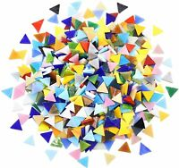 0.59 in Triangle Opaque Stained Glass Mosaic Tiles For Crafts Pieces Supply DIY