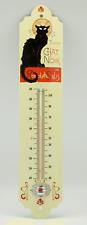 More details for tournée du chat noir black cat vintage retro garden indoor thermometer metal