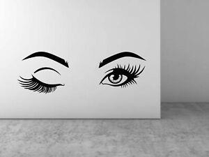 Eyebrows Eyelashes Wall Sticker Wink DIY Art Decal Wall Home Decoration