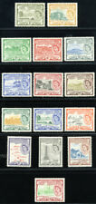 ST. KITTS & NEVIS 1954-63 SC 120-34+3xBL4+135+139-42 OG MNH-MLH * SET 32 STAMP