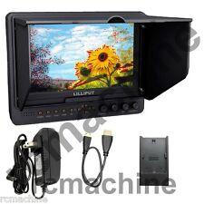 "Lilliput 7"" 665/O/P+Canon LP-E6 adapter, PEAKING, Zebra HDMI IN & OUT Monitor"