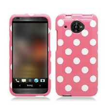For Virgin Mobile HTC Desire 601 HARD Protector Case Phone Cover Pink Polka Dots