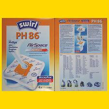 3 Pakete SWIRL PH 86 MicroPor Staubsaugerbeutel PH86 - 12 Beutel