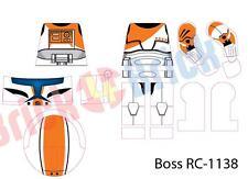 Lego Star Wars Boss Delta Squad Custom Clone Trooper Water Slide Decal - New