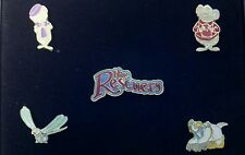 Disney's THE RESCUERS Collector Pin Set 5 Piece w/ Case-- Retired Pins