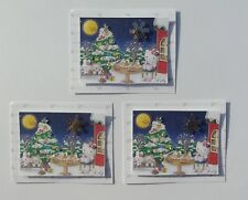 3 hello kitty arbre de noel embellissement toppers 4 cartes