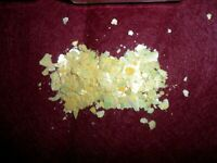 Vintage Yellow Mother of Pearl Flakes