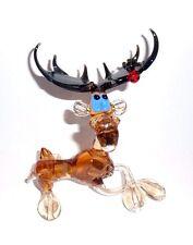 """5"""" Large Handmade Art Glass, Murano,Glass Sculpture,Blown Glass Figurine """"Deer"""""""