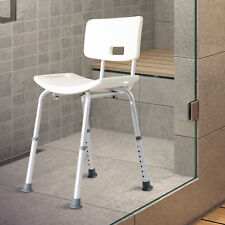 Bath Chair Shower Stool Safety Seat Bathroom Adjustable Positions Elderly Aids