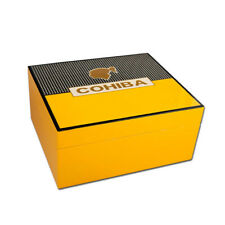COHIBA Classic Pattern Ceder Wood Lined 50 Ct Cigar Humidor Case Holder
