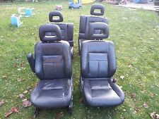 RARE 1997-2001 Honda CRV Black front & rear leather seats.rd1rd2.rd3.READ BELOW!