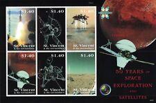 Viking 1 mars vaisseau spatial/50 ans l'exploration spatiale timbre feuille/2008 st vincent