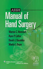 ASSH Manual of Hand Surgery, Warren C. Hammert, Very Good, Paperback