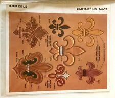 Tandy Leather Factory Fleur De Lis Emblem Stencil NEW Craftool No. 76607