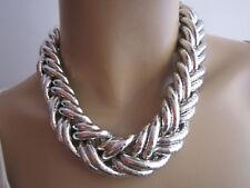 Damen Collier Hals Kette kurz Biegekette Schlangenkette Modekette Silber Trend 8