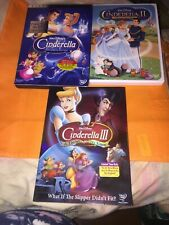 Lot Of 3 Disney Cinderella DVD's Pre-owned