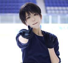 Yuri!!! on Ice Katsuki Yuri Black Short Straight Cosplay Full Wig