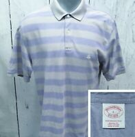 BROOKS BROTHERS L Large S/S Polo Style Original Fit Shirt Light Lavender & Gray