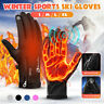 Winter Skiing Snowboarding Gloves Zipper Touch Screen Waterproof Thermal