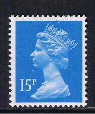GB QEII Machin Definitive Stamp. SG X905 15p Bright Blue. CB. MNH