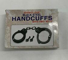 Double Lock Handcuffs - Black Steel