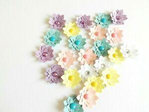 Lotus Flowers Papercraft Embellishments Scrapbooking Floral Card Making Crafts
